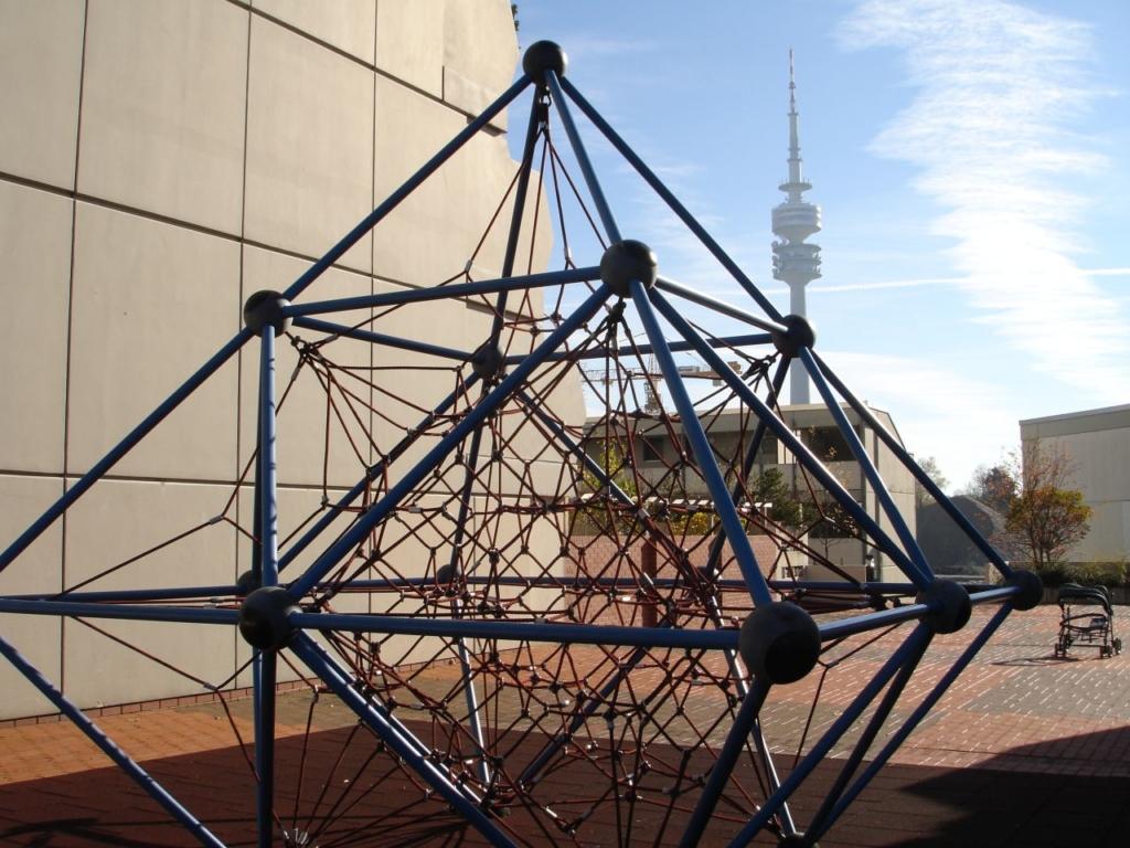 Kunstwerk im Olympiadorf